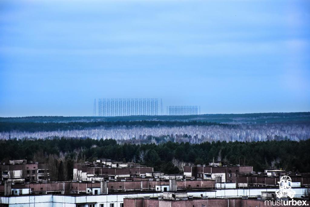 Prypeć Oko Moskwy dach blok urbex miasto widmo