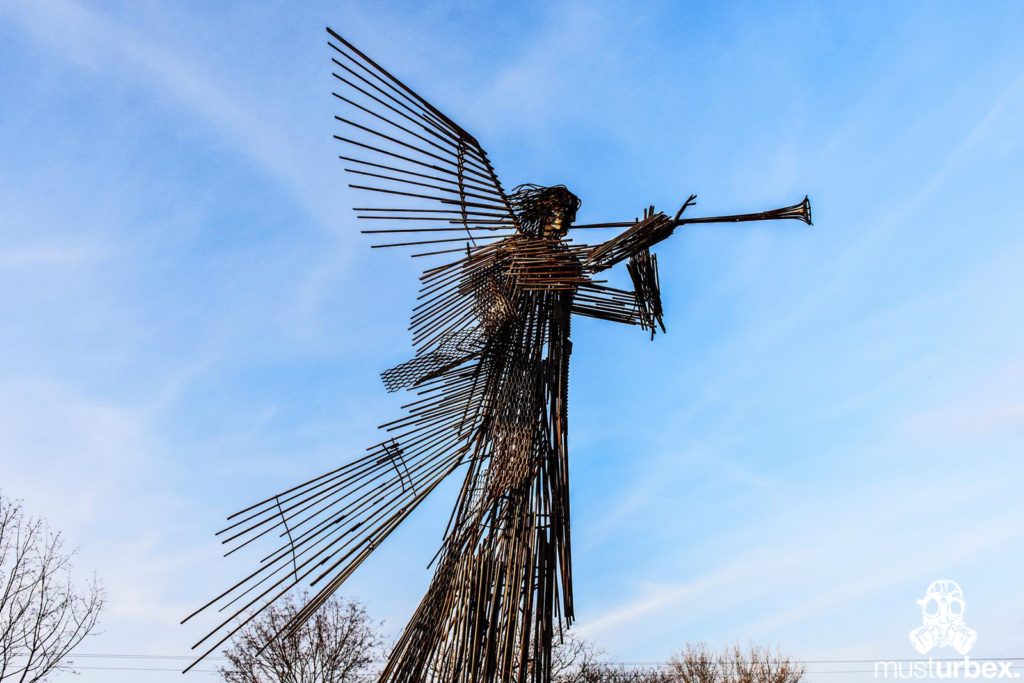 Czanobyl Anioł pomnik Apokalipsa św .Jana Piołun katastrofa