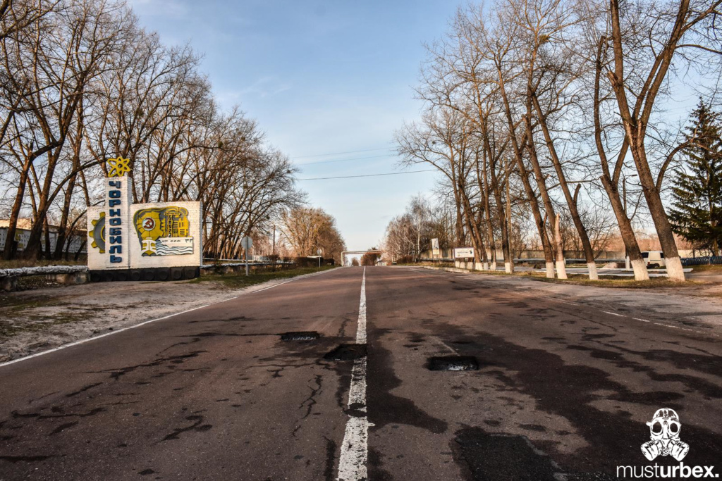 Droga Znak Czarnobyl strefa Czarnobylska