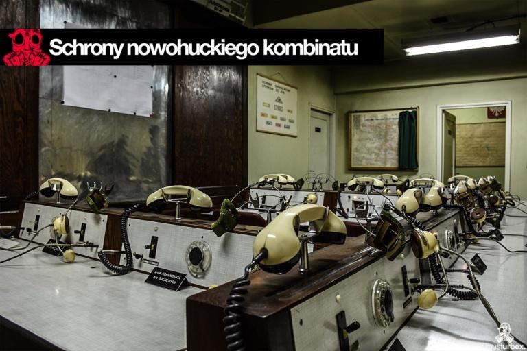 Nowa Huta schron kombinat centrum dowodzenia meldunki centrala alarmów stanowisko dowodzenia telefony huta sendzimira huta Lenina