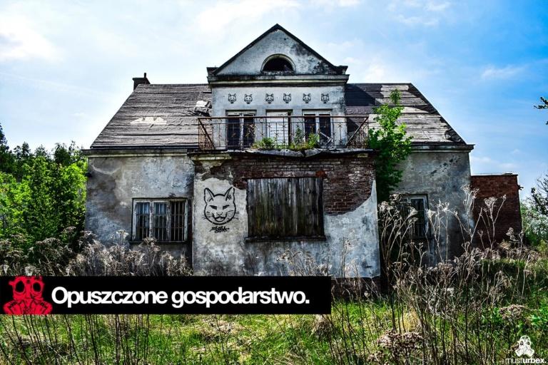 opuszczony dom z kotem Urbex Święcice opuszczone gospodarstwo pod warszawą urbex musturbex