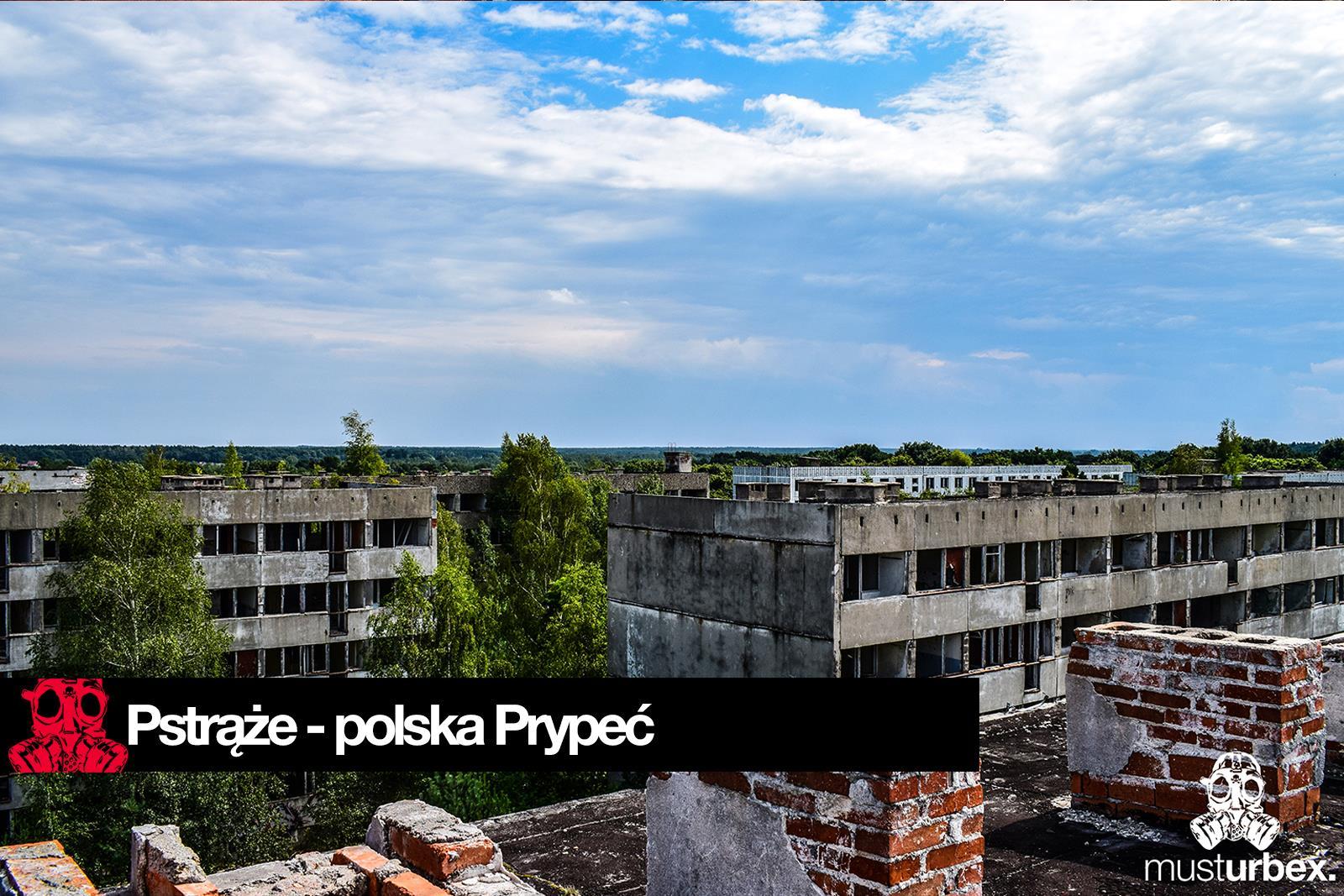 widok z dachu opuszczonego bloku opuszczone polskie miasto widmo Pstrąże Strans Страхув Strachów urbex musturbex