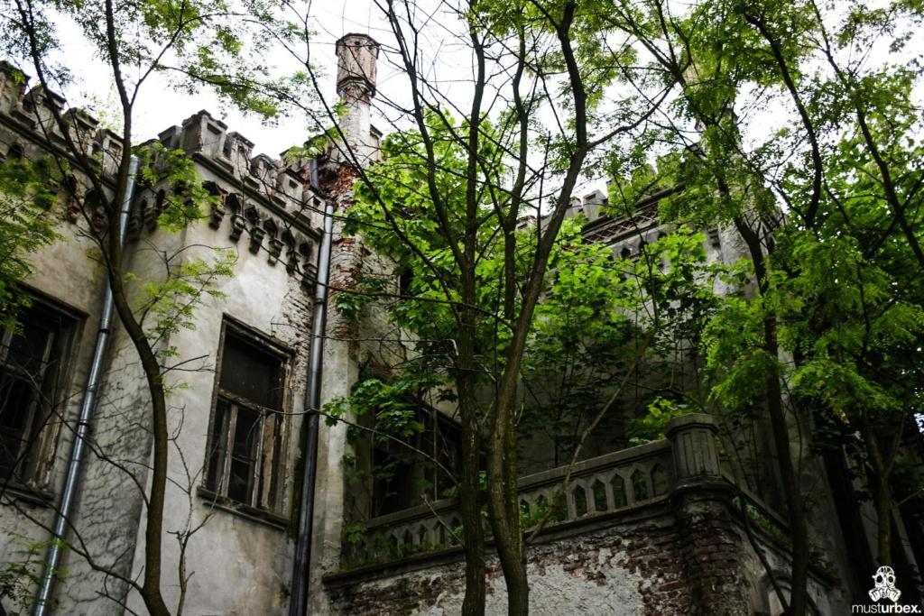 Neogotycki Pałacyk Neogotycka willa w Piekarach pod Krakowem, balkony, tarasy, Pałacyk Piekary